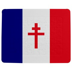 Flag Of Free France (1940 1944) Jigsaw Puzzle Photo Stand (rectangular) by abbeyz71