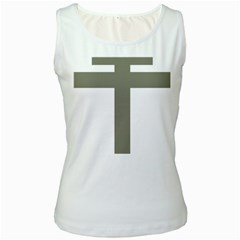Cross Of Loraine Women s White Tank Top by abbeyz71
