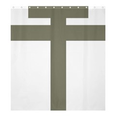 Cross Of Loraine Shower Curtain 66  X 72  (large)  by abbeyz71