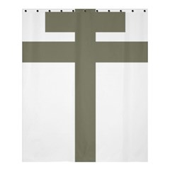 Cross Of Loraine Shower Curtain 60  X 72  (medium)  by abbeyz71