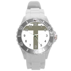 Cross Of Loraine Round Plastic Sport Watch (l) by abbeyz71