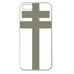 Cross Of Loraine Apple Seamless Iphone 5 Case (clear) by abbeyz71