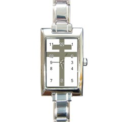 Cross Of Lorraine  Rectangle Italian Charm Watch by abbeyz71