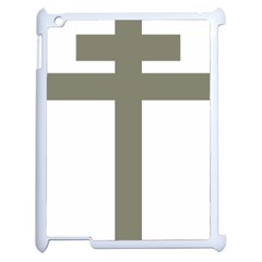 Cross Of Lorraine  Apple Ipad 2 Case (white) by abbeyz71