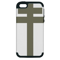 Cross Of Lorraine  Apple Iphone 5 Hardshell Case (pc+silicone) by abbeyz71