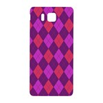 Plaid pattern Samsung Galaxy Alpha Hardshell Back Case Front