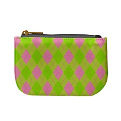 Plaid Pattern Mini Coin Purses by Valentinaart