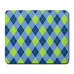 Plaid Pattern Large Mousepads by Valentinaart