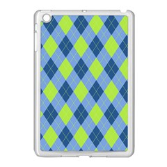 Plaid Pattern Apple Ipad Mini Case (white)