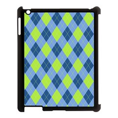 Plaid Pattern Apple Ipad 3/4 Case (black) by Valentinaart