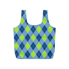 Plaid Pattern Full Print Recycle Bags (s)
