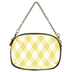 Plaid Pattern Chain Purses (two Sides)