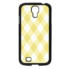 Plaid Pattern Samsung Galaxy S4 I9500/ I9505 Case (black)