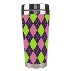 Plaid Pattern Stainless Steel Travel Tumblers