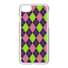 Plaid Pattern Apple Iphone 7 Seamless Case (white)