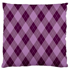 Plaid Pattern Large Cushion Case (two Sides) by Valentinaart