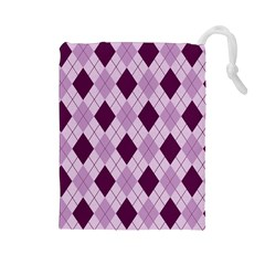 Plaid Pattern Drawstring Pouches (large)