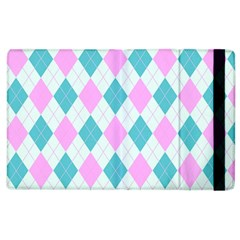 Plaid Pattern Apple Ipad 2 Flip Case by Valentinaart