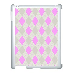Plaid Pattern Apple Ipad 3/4 Case (white) by Valentinaart
