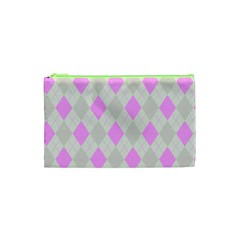 Plaid Pattern Cosmetic Bag (xs) by Valentinaart