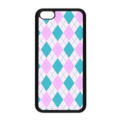 Plaid Pattern Apple Iphone 5c Seamless Case (black) by Valentinaart