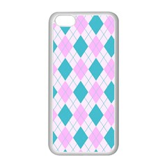 Plaid Pattern Apple Iphone 5c Seamless Case (white) by Valentinaart