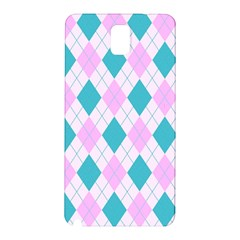 Plaid Pattern Samsung Galaxy Note 3 N9005 Hardshell Back Case by Valentinaart