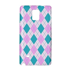 Plaid Pattern Samsung Galaxy Note 4 Hardshell Case by Valentinaart