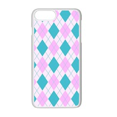 Plaid Pattern Apple Iphone 7 Plus White Seamless Case by Valentinaart