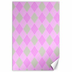 Plaid Pattern Canvas 20  X 30
