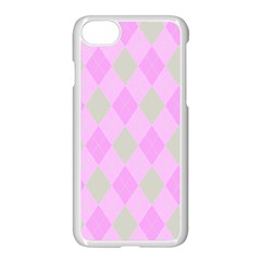 Plaid Pattern Apple Iphone 7 Seamless Case (white) by Valentinaart