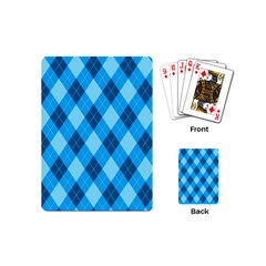 Plaid Pattern Playing Cards (mini)  by Valentinaart