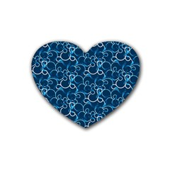 Plaid Pattern Rubber Coaster (heart)