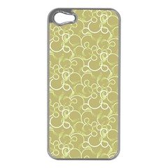 Plaid Pattern Apple Iphone 5 Case (silver)