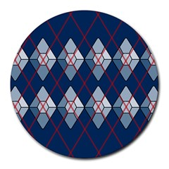 Diamonds And Lasers Argyle  Round Mousepads by emilyzragz