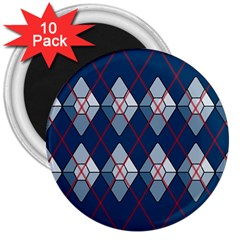 Diamonds And Lasers Argyle  3  Magnets (10 Pack)  by emilyzragz