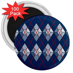 Diamonds And Lasers Argyle  3  Magnets (100 Pack) by emilyzragz