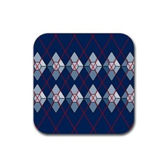 Diamonds And Lasers Argyle  Rubber Coaster (square)  by emilyzragz