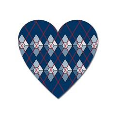 Diamonds And Lasers Argyle  Heart Magnet by emilyzragz