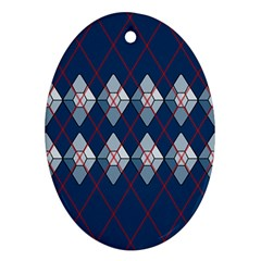 Diamonds And Lasers Argyle  Oval Ornament (two Sides) by emilyzragz