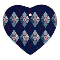 Diamonds And Lasers Argyle  Heart Ornament (two Sides) by emilyzragz