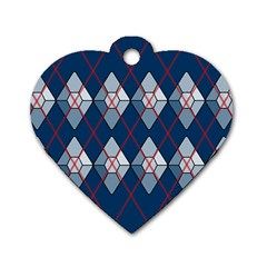Diamonds And Lasers Argyle  Dog Tag Heart (two Sides) by emilyzragz