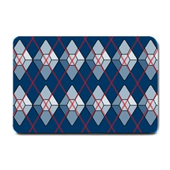 Diamonds And Lasers Argyle  Small Doormat  by emilyzragz