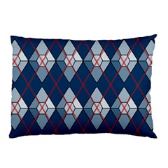 Diamonds And Lasers Argyle  Pillow Case by emilyzragz