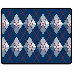 Diamonds And Lasers Argyle  Fleece Blanket (medium)  by emilyzragz