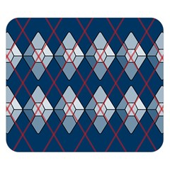 Diamonds And Lasers Argyle  Double Sided Flano Blanket (small)  by emilyzragz