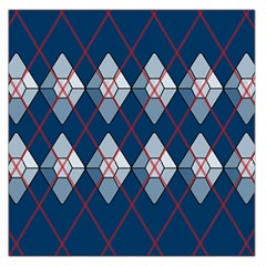 Diamonds And Lasers Argyle  Large Satin Scarf (square) by emilyzragz