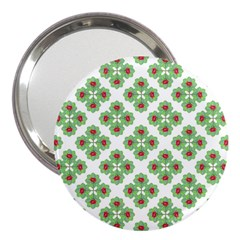 Floral Collage Pattern 3  Handbag Mirrors by dflcprints