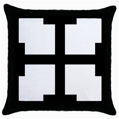 Cross Potent Throw Pillow Case (black) by abbeyz71