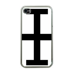 Cross Potent Apple Iphone 4 Case (clear) by abbeyz71
